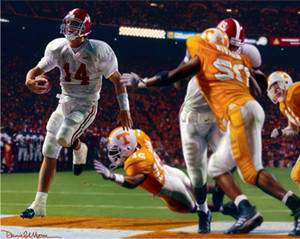 Running Through the T - Collegiate Classic 8x10 - Alabama Football vs. Tennessee 2002