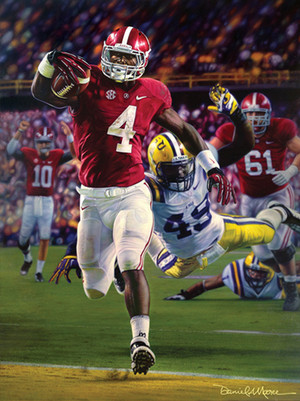 Death Valley Drive - Canvas Editions - Alabama Football vs. LSU 2012