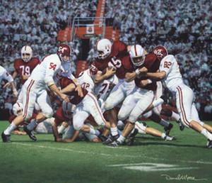 Between the Lines - Canvas Editions - Alabama Football vs. Oklahoma 1963 (Lee Roy Jordan)