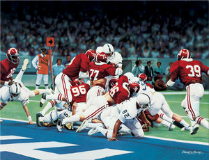 The Goal Line Stand - Collegiate Classic 8x10 - Alabama Football 1978 National Champions
