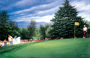 Green At 18 - 1985 PGA Championship (Hubert Green)