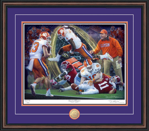 Shown in our Walnut frame with Purple/Orange/Black matting