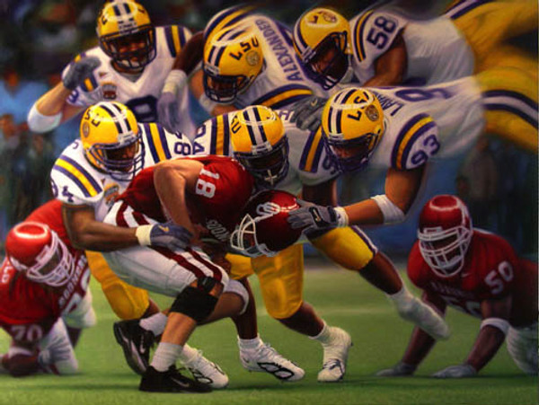 """""""Reigning Tigers"""" by Daniel A. Moore 2003 National Champions"""