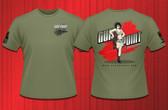Gun Point Girl - SPWS Logo Shirt (OD Green)