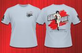 Gun Point Girl - SPWS Logo Shirt (Light Blue)