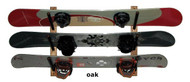 Del Sol wall mounted snowboard rack