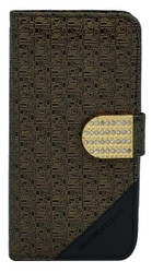 LG Volt 2 Design Wallet with Bling Gold