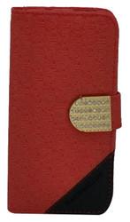 LG Volt 2 Design Wallet with Bling Red