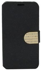 LG Volt 2 Glitter Bling Wallet Black