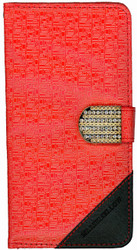 Samsung Note 5 Design Wallet with Bling Red