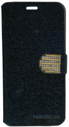 SAMSUNG NOTE 5 Glitter Bling Wallet Black