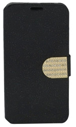 HTC Desire 626s Glitter Bling Wallet Black