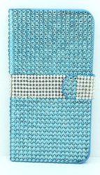 Samsung Galaxy Note 4 Full Bling Wallet Teal