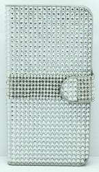 Samsung Galaxy Note 4 Full Bling Wallet Silver