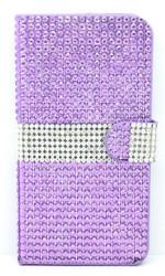 Samsung Galaxy Note 4 Full Bling Wallet Purple