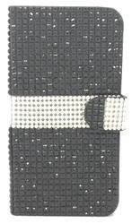 Samsung Galaxy Note 4 Full Bling Wallet Black