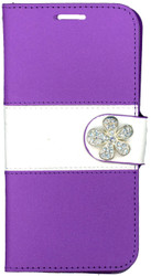 Samsung Galaxy S6  MM Flower Wallet Purple