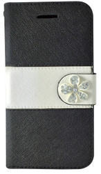 Samsung Galaxy S6  MM Flower Wallet  Black