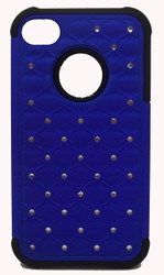 SOLD OUT Iphone 4/4s Dual Bling Case Blue & Black