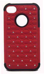 SOLD OUT Iphone 4/4s Dual Bling Case Red & Black