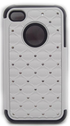 SOLD OUT  Iphone 4/4s Dual Bling Case White & Black