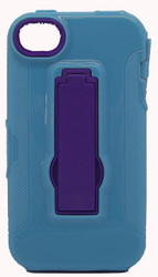 Iphone 4/4s Armor Horizontal With Kickstand Blue & Purple
