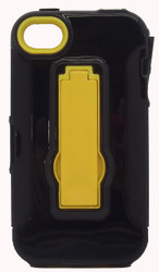 SOLD OUT Iphone 4/4s Armor Horizontal  With Kickstand Black & Yellow