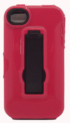 Iphone 4/4s Armor Horizontal With Kickstand Red & Black
