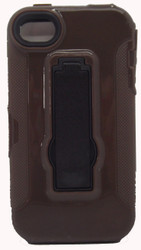 SOLD OUT Iphone 4/4s Armor Horizontal With Kickstand Brown & Black