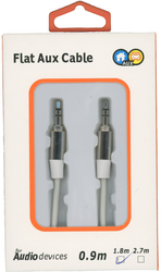 Flat Aux Cable White