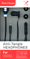 Anti-Tangle Handsfree Black
