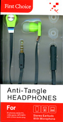 Anti-Tangle Handsfree Grey & Green