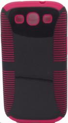 Samsung Galaxy S3 Dual Layer Black & Pink