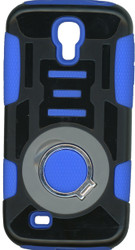 Samsung Galaxy S4 Ring Hybrid Black & Blue