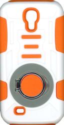 Samsung Galaxy S4 Ring Hybrid White & Orange