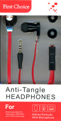 Anti-Tangle Handsfree Red And Black