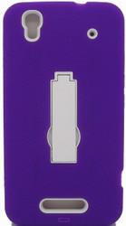 ZTE Max Armor Horizontal With Kickstand Purple & White