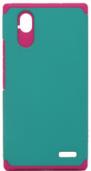 ZTE Warp Elite MM Slim Dura Case Green & Pink