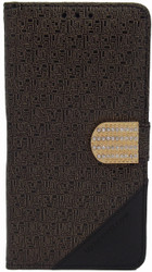 ZTE Max 2 Design Wallet With Bling Golden