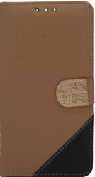 ZTE Max 2 Design Wallet With Bling Light Brown