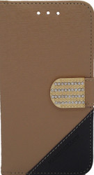 ZTE Obsidian Design Wallet With Bling Light Brown
