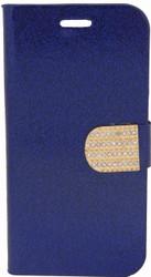 ZTE Obsidian Glitter Bling Wallet Blue