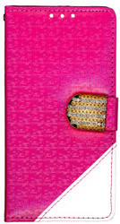 Samsung Galaxy Grand Prime Design Wallet With Bling Pink