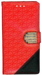 LG G FLex 2 Design Wallet With Bling Red
