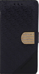 Alcatel Idol 3 5.5  Design Wallet With Bling Navy