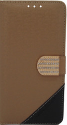 Alcatel Idol 3 5.5  Design Wallet With Bling Light Brown