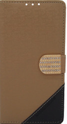 Alcatel Fierce XL  Design Wallet With Bling Light Brown