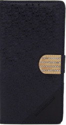Alcatel Fierce XL  Design Wallet With Bling Navy