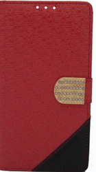 Alcatel Fierce XL  Design Wallet With Bling Red