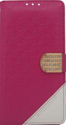 Alcatel Fierce XL  Design Wallet With Bling Pink